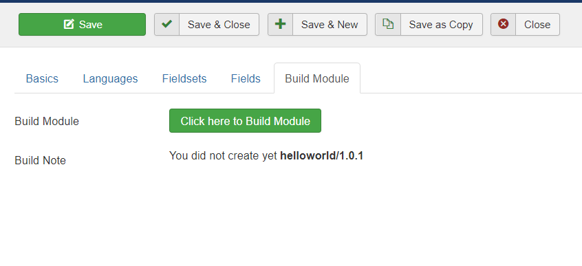 Build Module after completion